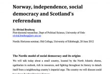 Norway, independence, social democracy and Scotland's referendum